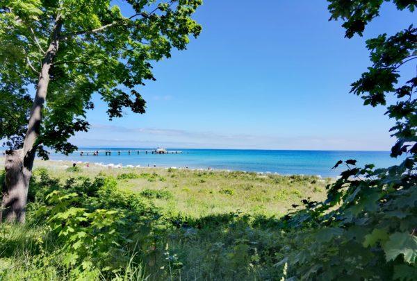 Blick auf die blaue Ostsee