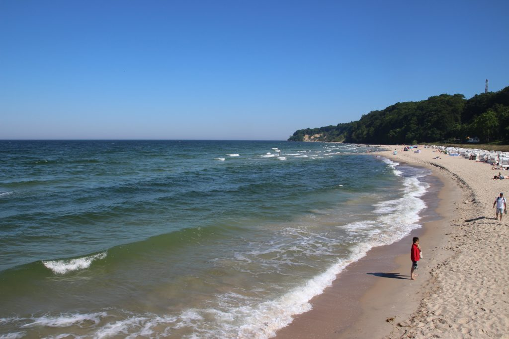 Am Strand im Ostseebad Göhren