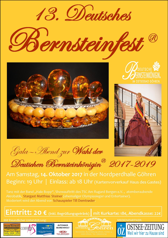 Plakat Bernsteinfest 2017